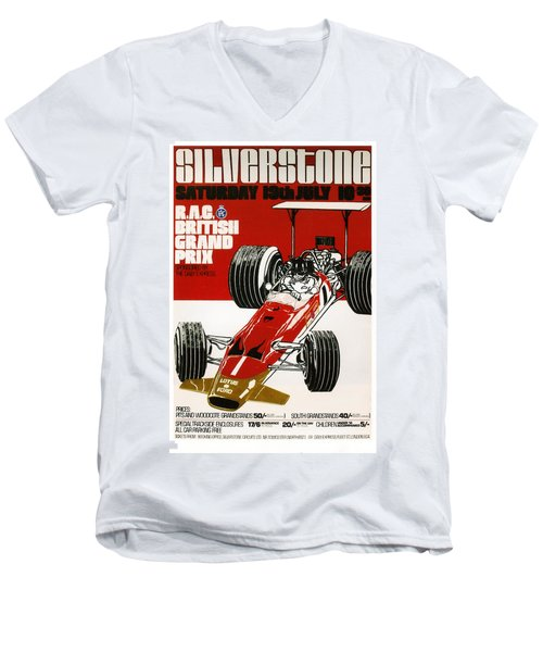 Silverstone Grand Prix 1969 Men's V-Neck T-Shirt