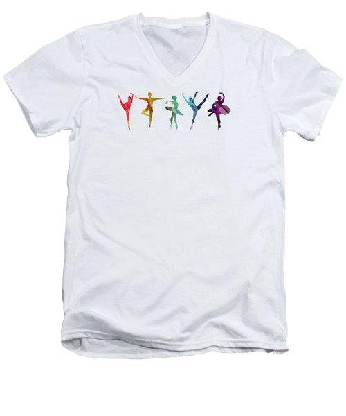 Simply Dancing 3 Men's V-Neck T-Shirt