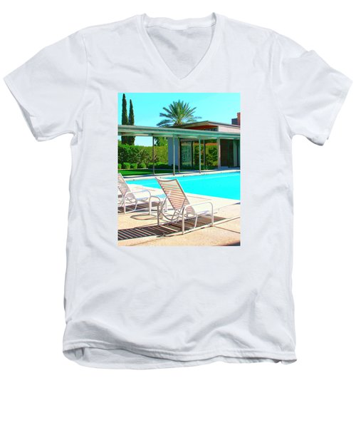 Sinatra Pool Palm Springs Men's V-Neck T-Shirt