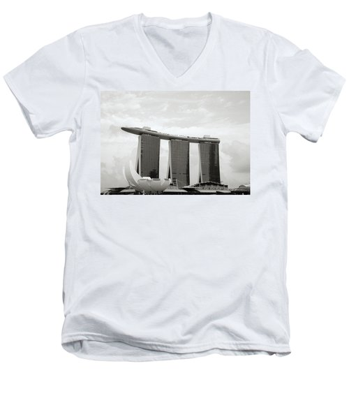 Singapore Skyline Men's V-Neck T-Shirt