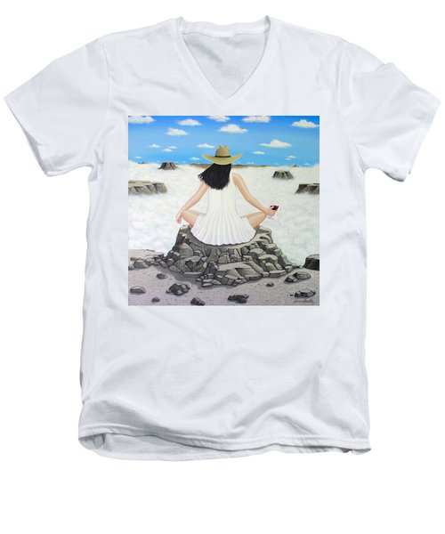Sippin' On Top Of The World Men's V-Neck T-Shirt