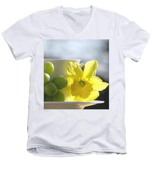 Sipping Spring Men's V-Neck T-Shirt