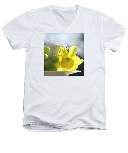 Sipping Spring Men's V-Neck T-Shirt