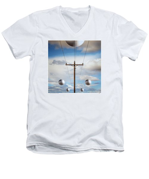 Sir I Suggest You Call The Phone Company Men's V-Neck T-Shirt by Gary Warnimont