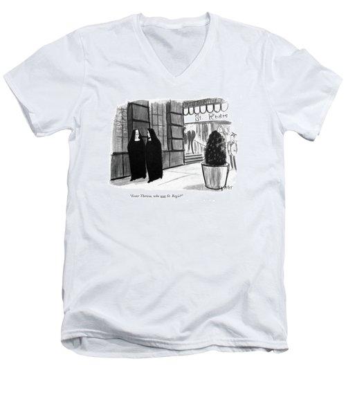 Sister Theresa Men's V-Neck T-Shirt