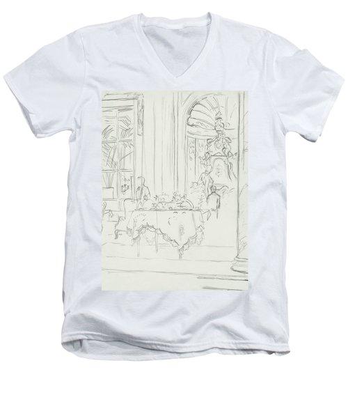 Sketch Of A Formal Dining Room Men's V-Neck T-Shirt
