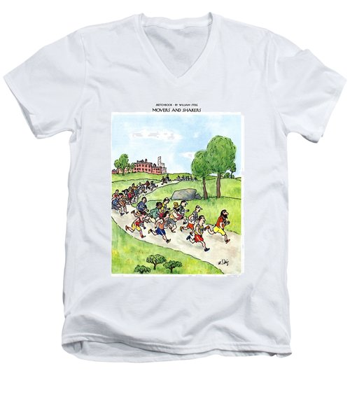 Sketchbook Movers And Shakers Men's V-Neck T-Shirt