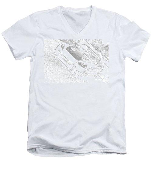 Sketched S2000 Men's V-Neck T-Shirt