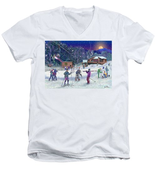 Ski Area Campton Mountain Men's V-Neck T-Shirt