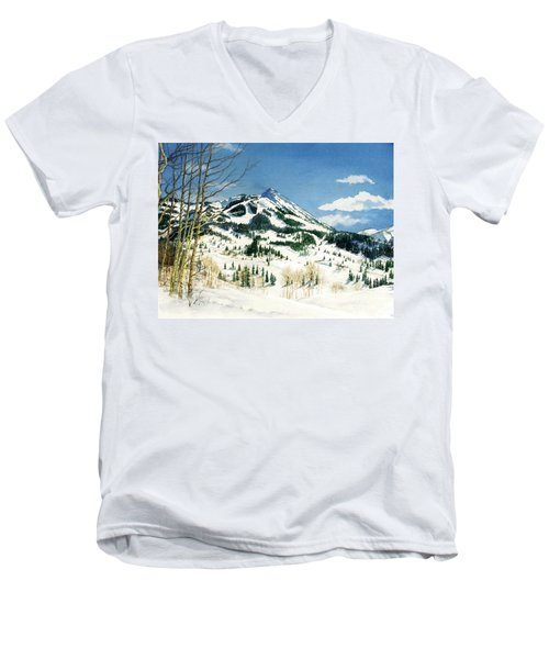 Skiers Paradise Men's V-Neck T-Shirt