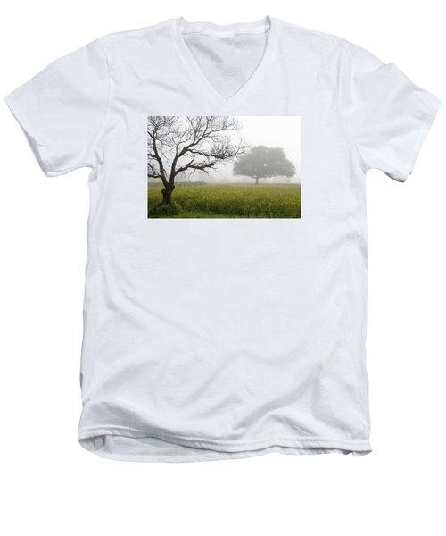 Men's V-Neck T-Shirt featuring the photograph Skc 0058 Contrasty Trees by Sunil Kapadia