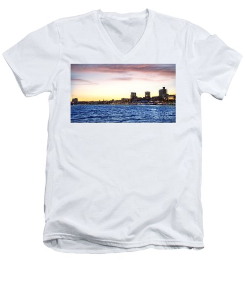 Skyline Hamburg Men's V-Neck T-Shirt