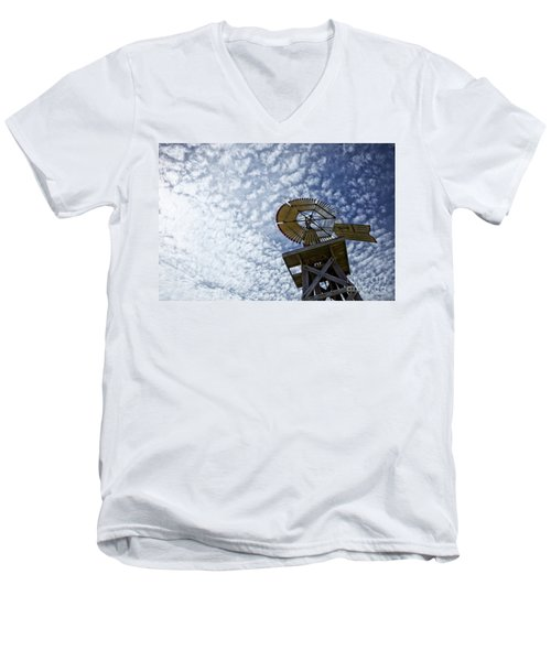 Skyward Men's V-Neck T-Shirt by Erika Weber
