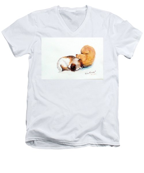 Sleeping Puppies Men's V-Neck T-Shirt