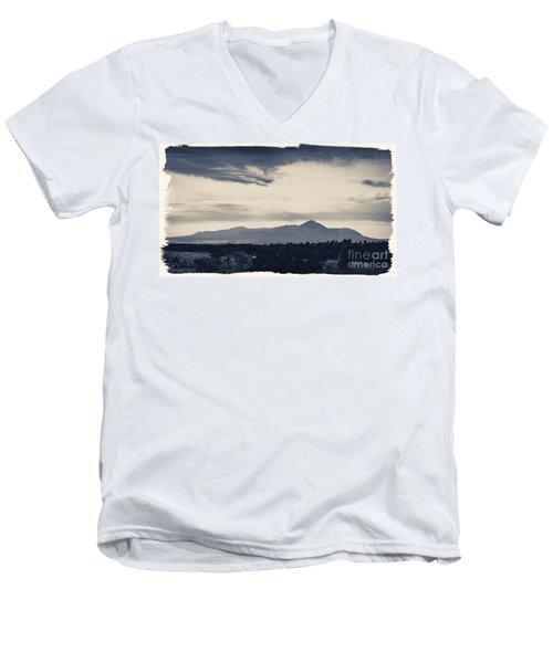 Sleeping Ute Mountain Men's V-Neck T-Shirt by Janice Rae Pariza
