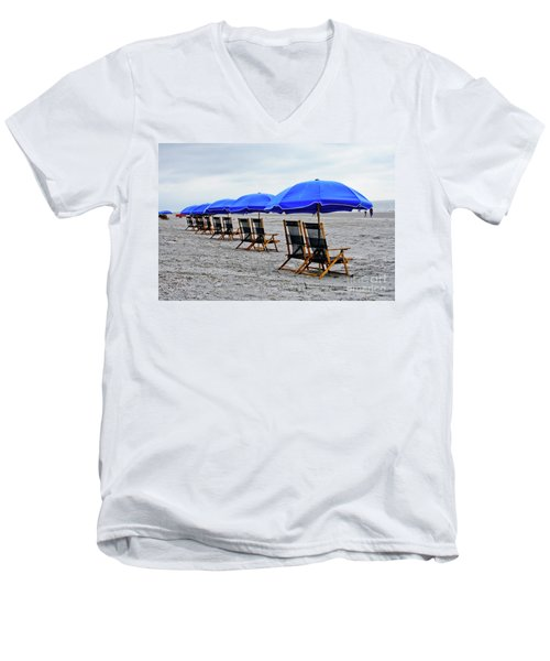 Slow Day At The  Beach Men's V-Neck T-Shirt