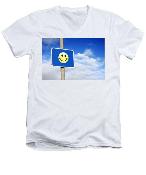 Smiley Men's V-Neck T-Shirt