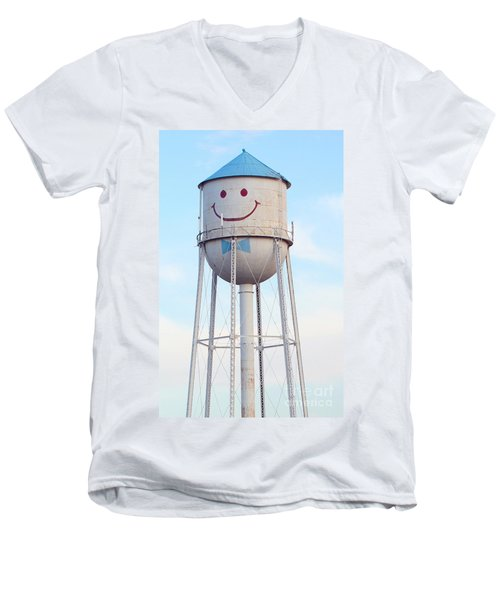 Smiley The Water Tower Men's V-Neck T-Shirt