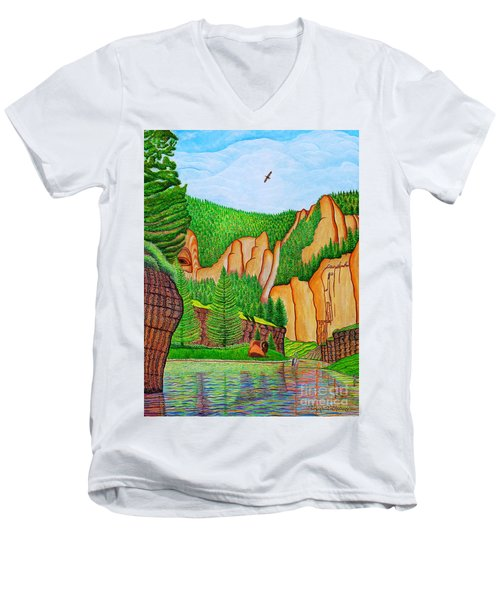 Smith River Montana Men's V-Neck T-Shirt