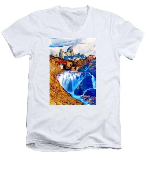 Smokey Mountain View Men's V-Neck T-Shirt