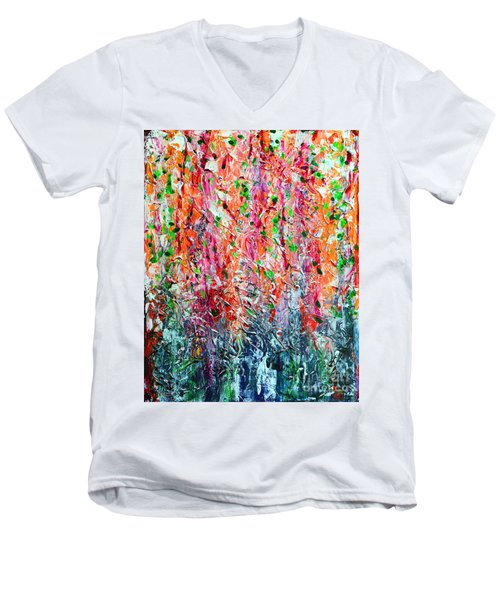 Snapdragons II Men's V-Neck T-Shirt by Alys Caviness-Gober