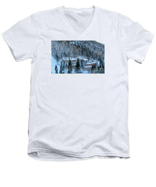 Snow Cabins Men's V-Neck T-Shirt