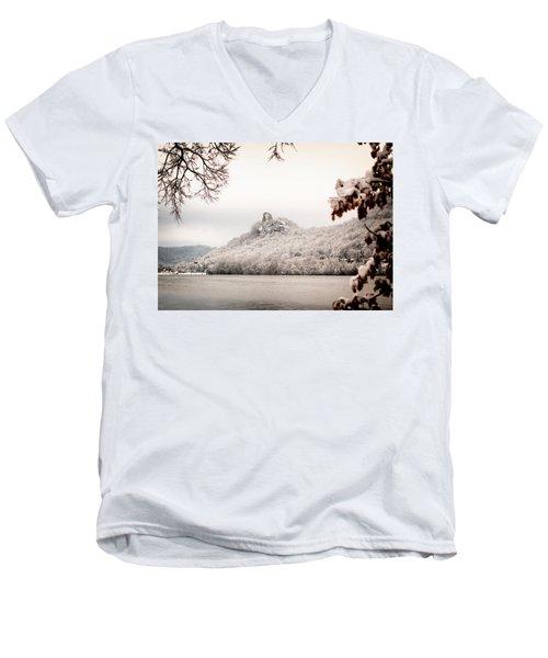 Snow Covered Sugarloaf Men's V-Neck T-Shirt