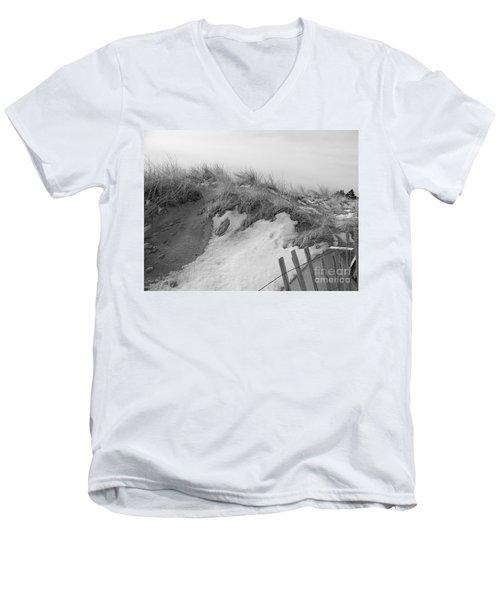 Snow Covered Sand Dunes Men's V-Neck T-Shirt