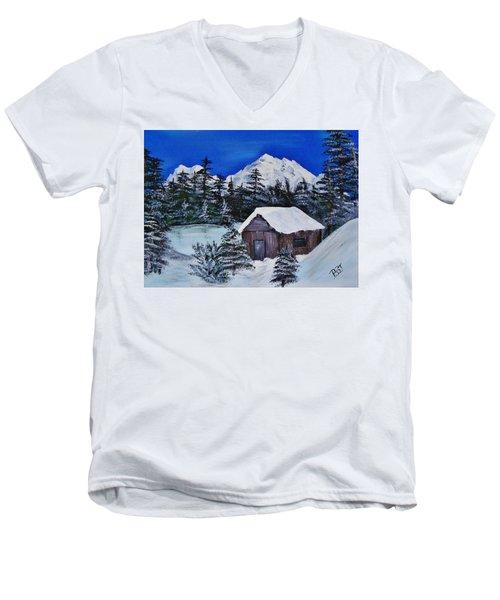 Snow Falling On Cedars Men's V-Neck T-Shirt