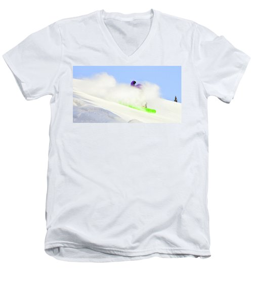 Snow Spray Men's V-Neck T-Shirt