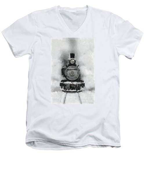 Snow Train Men's V-Neck T-Shirt