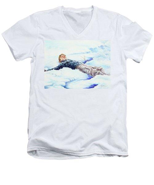 Snowball War Men's V-Neck T-Shirt