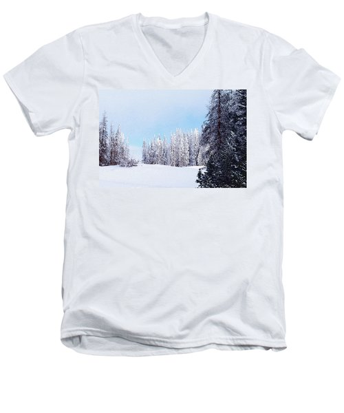 Snowbound Men's V-Neck T-Shirt