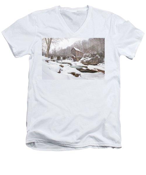 Snowglade Creek Grist Mill 1 Men's V-Neck T-Shirt