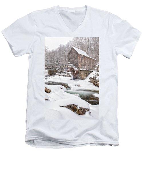 Snowglade Creek Grist Mill Men's V-Neck T-Shirt