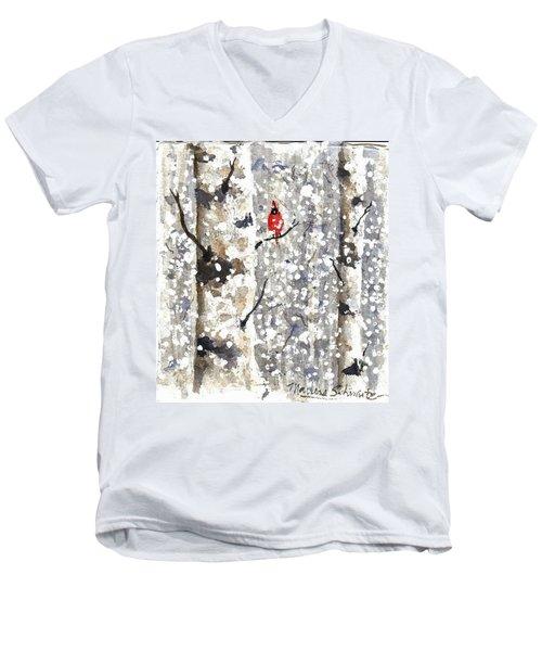 Snowy Hello Men's V-Neck T-Shirt