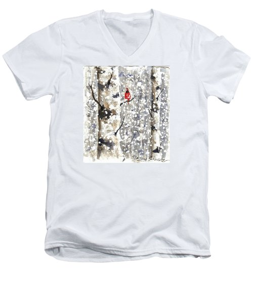Snowy Hello Men's V-Neck T-Shirt