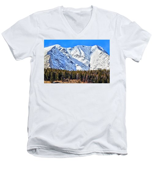Snowy Ridge Men's V-Neck T-Shirt
