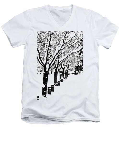 Snowy Walk Men's V-Neck T-Shirt