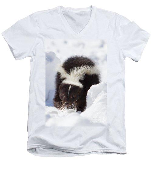 Snowy Walk Men's V-Neck T-Shirt