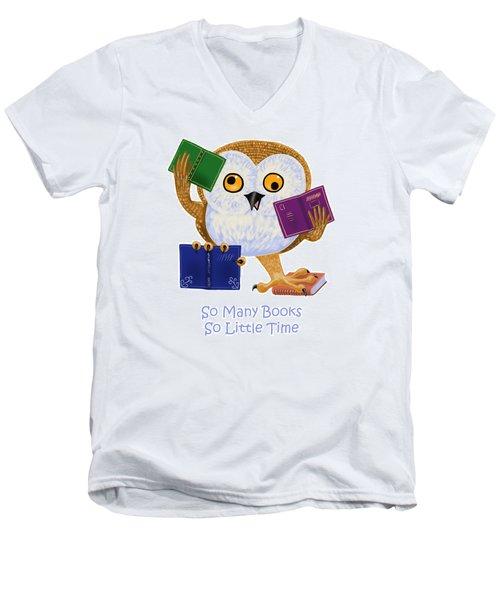 So Many Books So Little Time Men's V-Neck T-Shirt