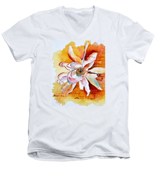 So The Wind Won't Blow It All Away Men's V-Neck T-Shirt by Beverley Harper Tinsley