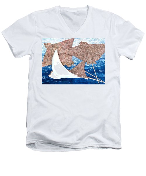 Soaring Eagle Rays Men's V-Neck T-Shirt