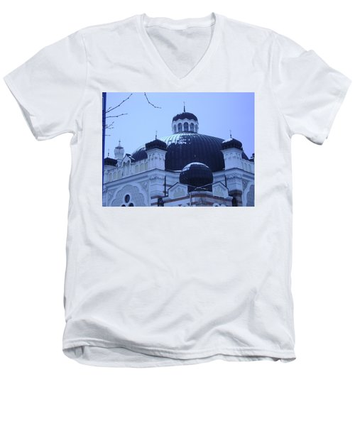 Sofia Synagogue In Bulgaria Men's V-Neck T-Shirt