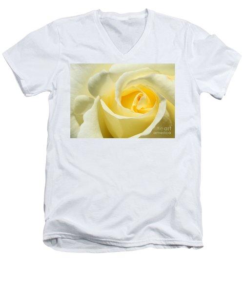 Soft Yellow Rose Men's V-Neck T-Shirt