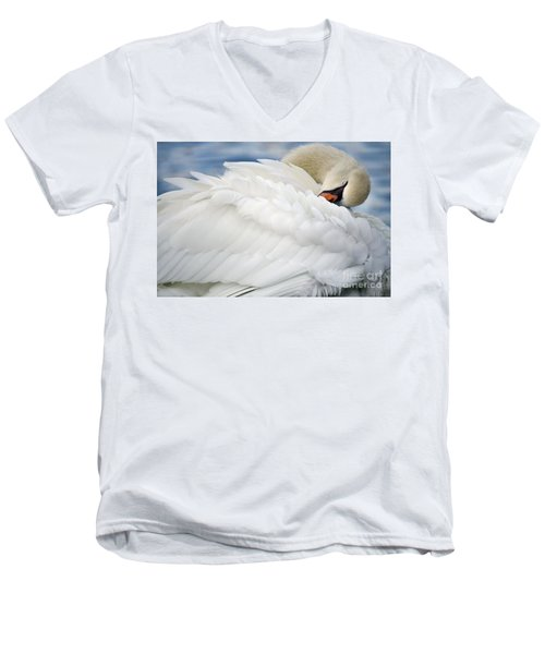 Softly Sleeping Men's V-Neck T-Shirt