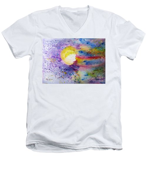 Solar Flair Men's V-Neck T-Shirt by Desiree Paquette