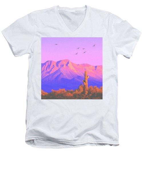 Solitary Silent Sentinel Men's V-Neck T-Shirt