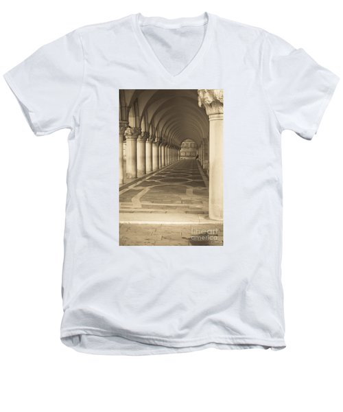 Solitude Under Palace Arches Men's V-Neck T-Shirt