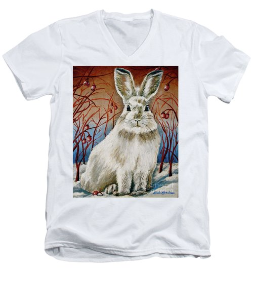Some Bunny Is Charming Men's V-Neck T-Shirt by Linda Simon